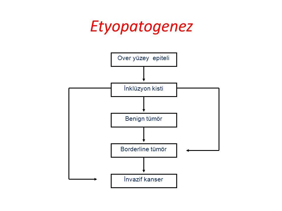 Etyopatogenez Over yüzey epiteli İnklüzyon kisti Benign tümör
