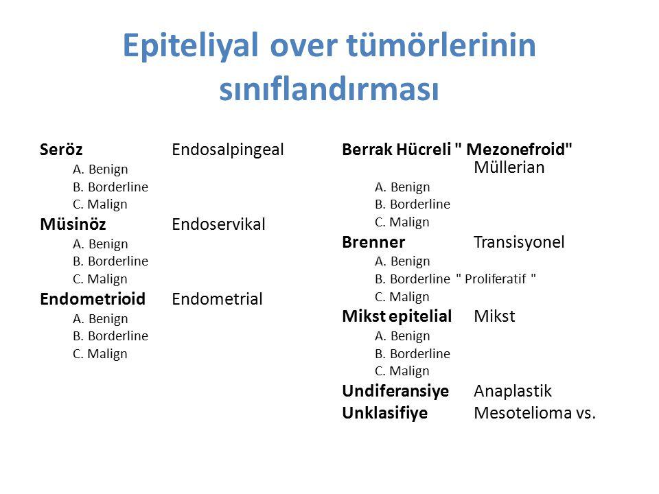 Epiteliyal over tümörlerinin sınıflandırması