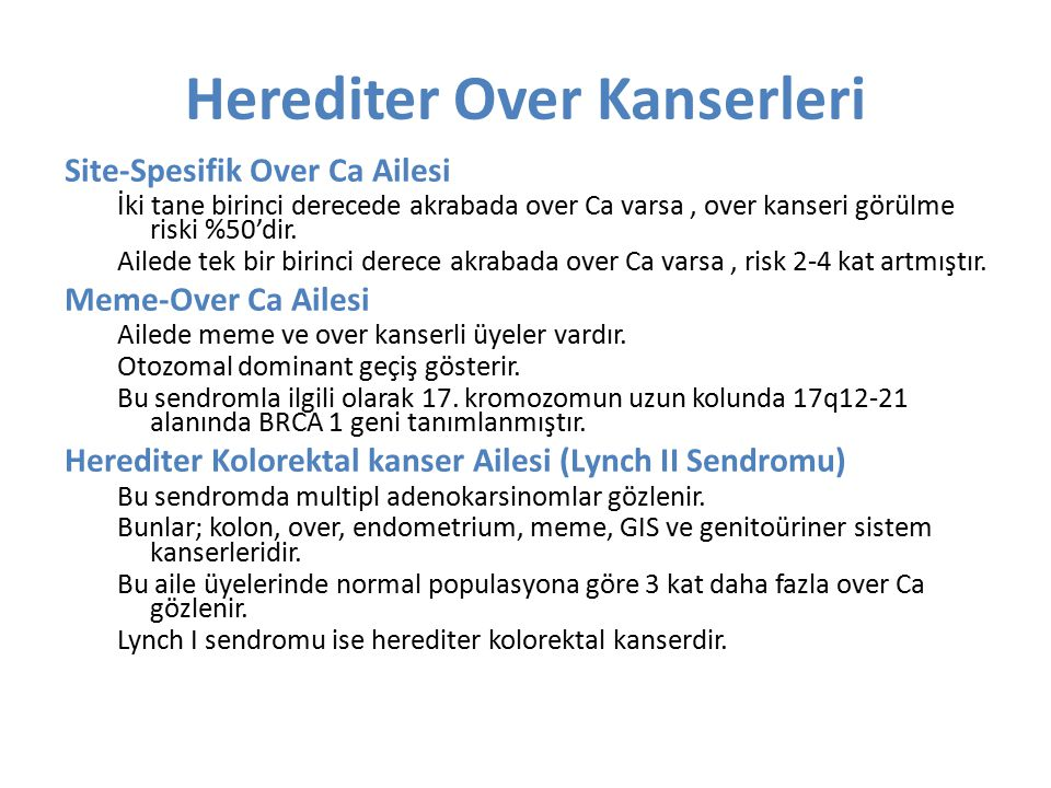 Herediter Over Kanserleri