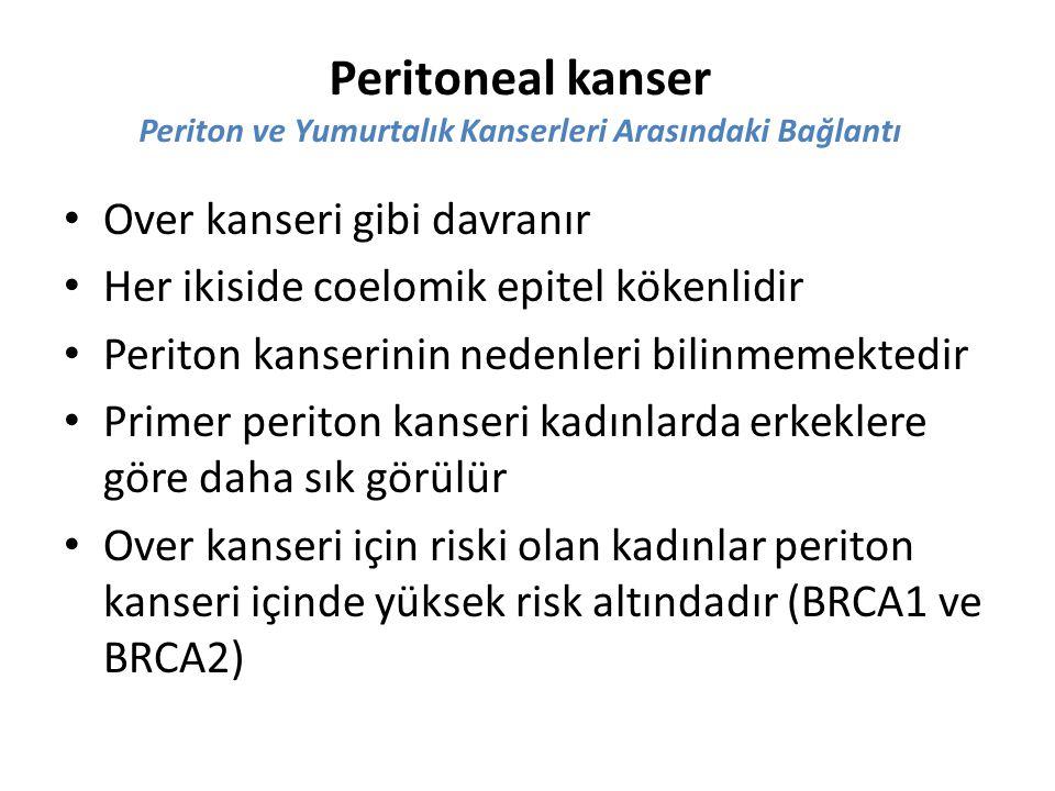 Peritoneal kanser Periton ve Yumurtalık Kanserleri Arasındaki Bağlantı
