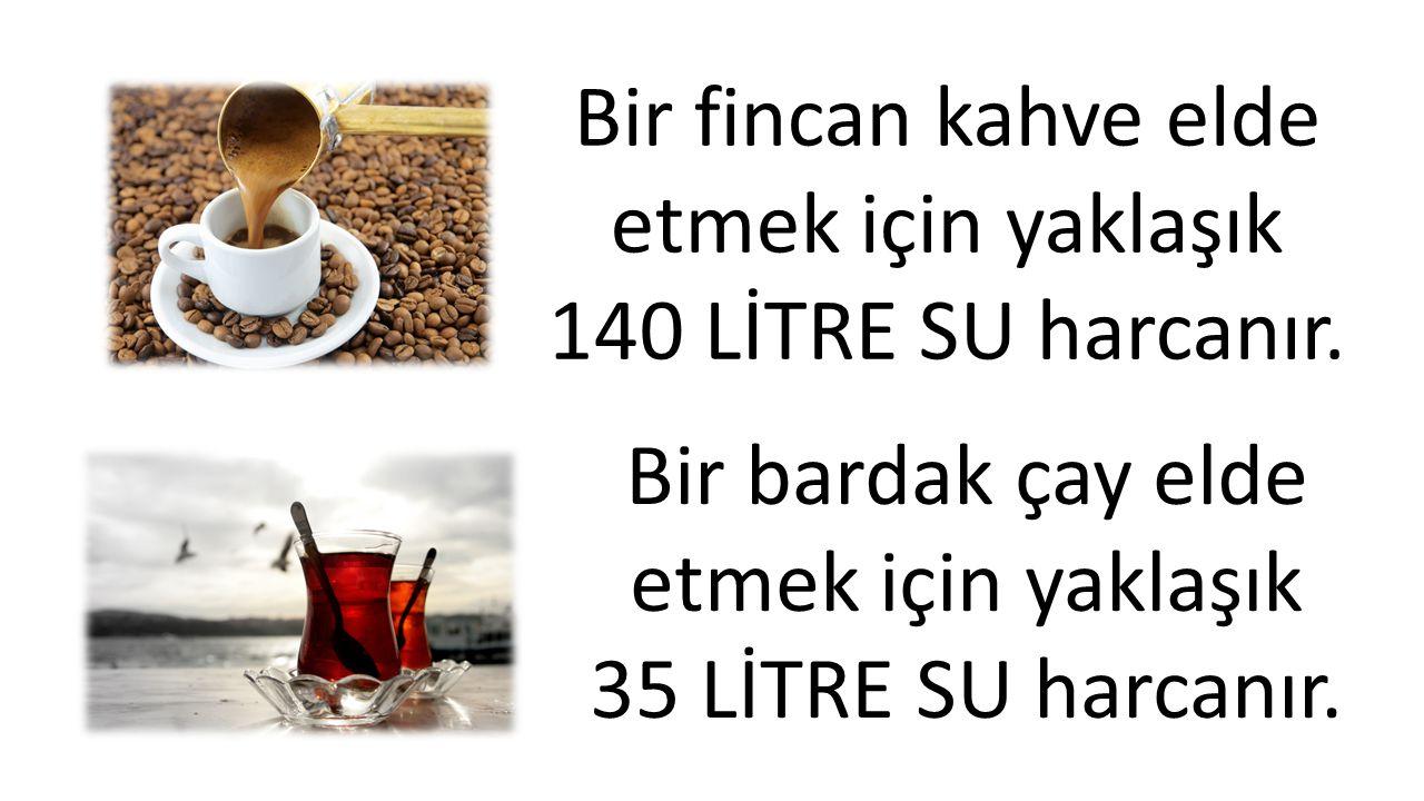 Bir fincan kahve elde etmek için yaklaşık 140 LİTRE SU harcanır.