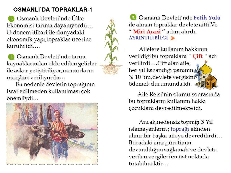 OSMANLI'DA TOPRAKLAR-1