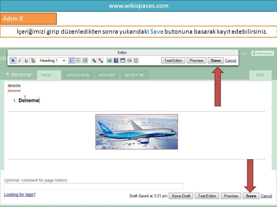 www.wikispaces.com Adım 8.