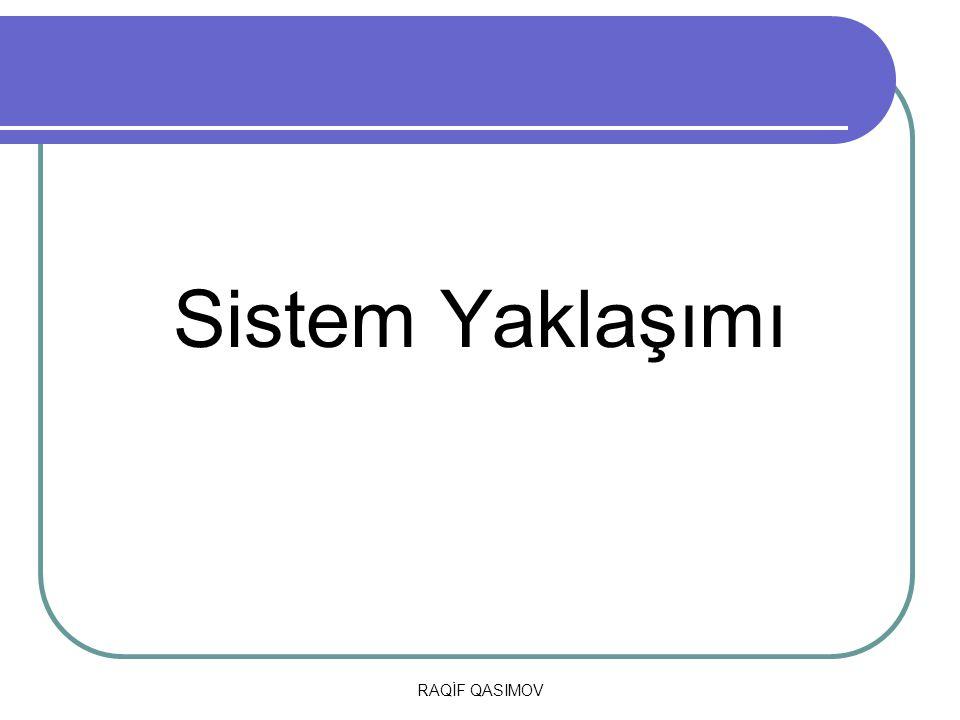 Sistem Yaklaşımı RAQİF QASIMOV