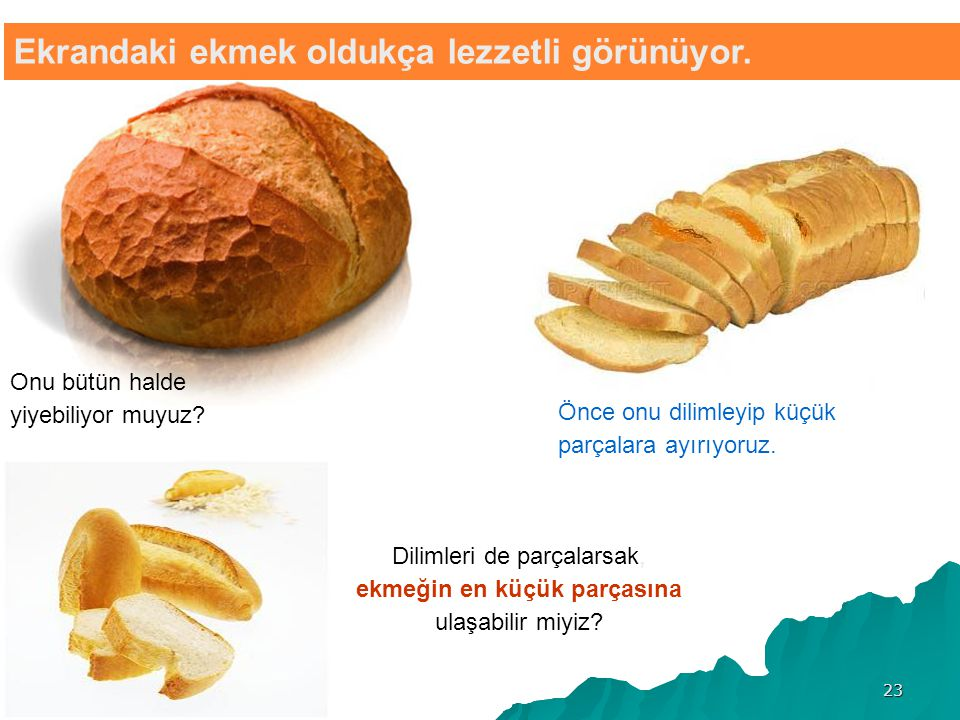 Ekrandaki ekmek oldukça lezzetli görünüyor.