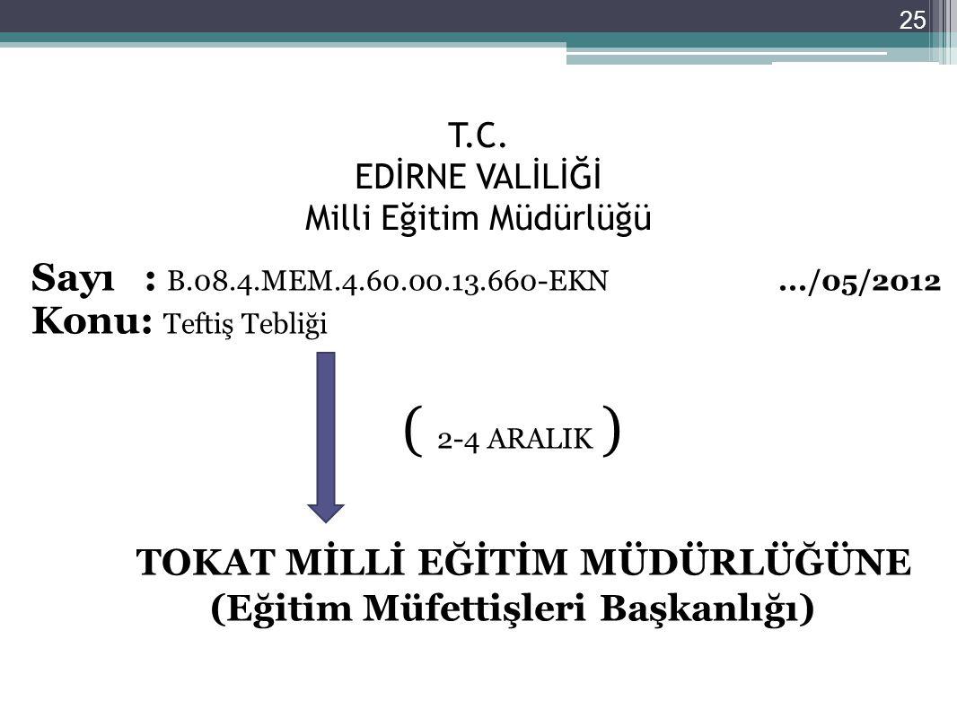 T.C. EDİRNE VALİLİĞİ Milli Eğitim Müdürlüğü