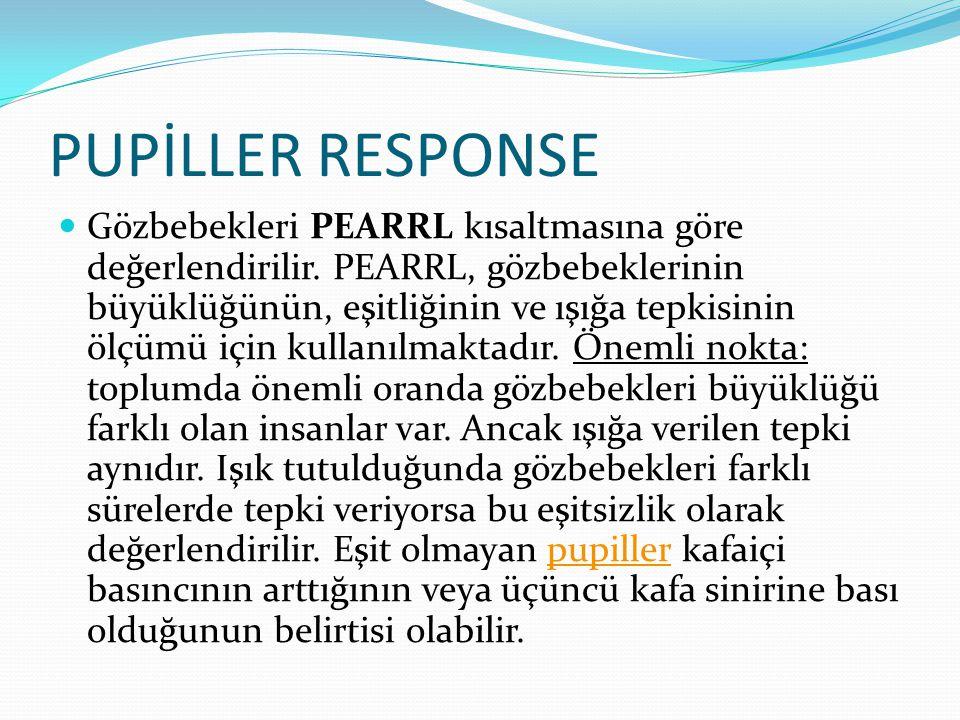 PUPİLLER RESPONSE