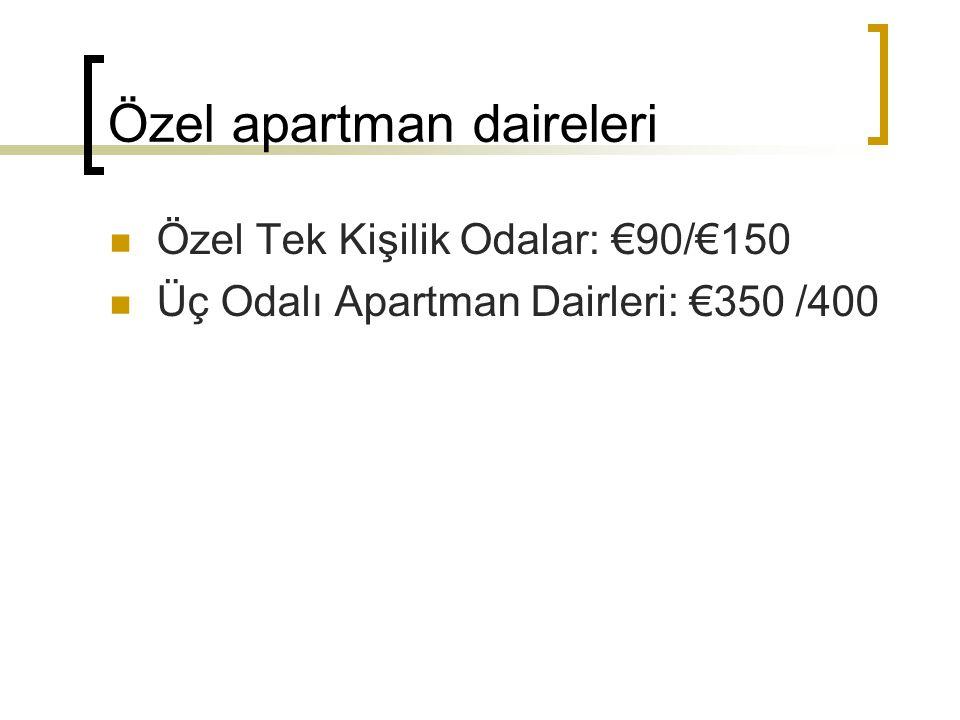 Özel apartman daireleri