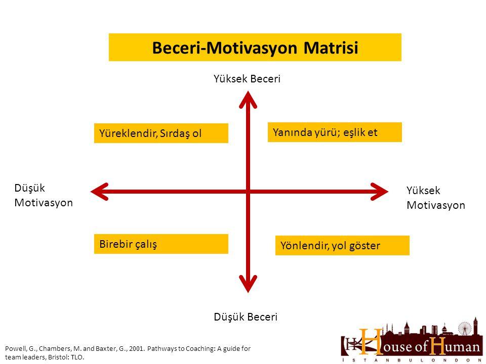 Beceri-Motivasyon Matrisi