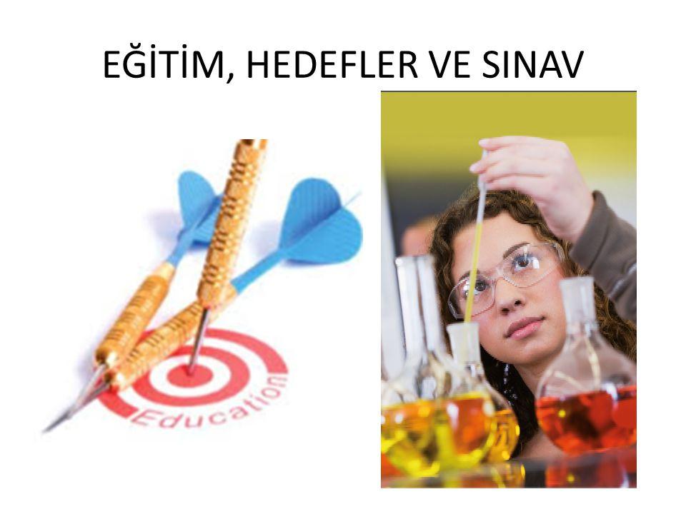 EĞİTİM, HEDEFLER VE SINAV