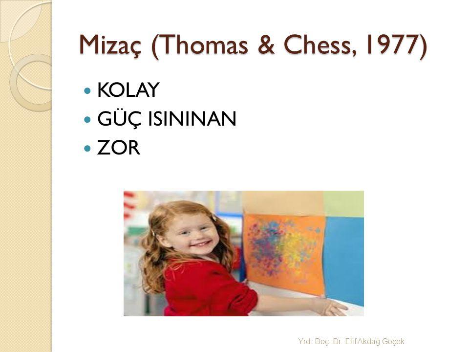 Mizaç (Thomas & Chess, 1977) KOLAY GÜÇ ISININAN ZOR