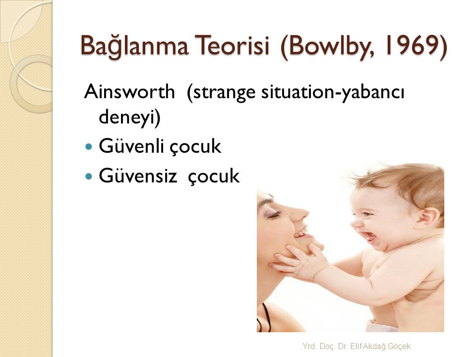 Bağlanma Teorisi (Bowlby, 1969)