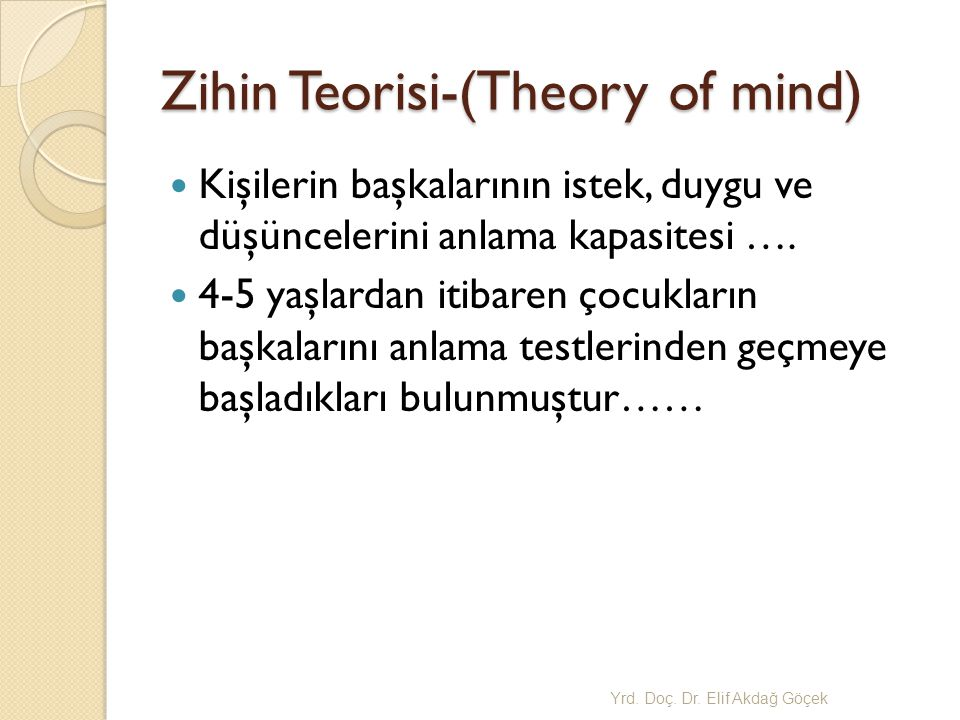Zihin Teorisi-(Theory of mind)