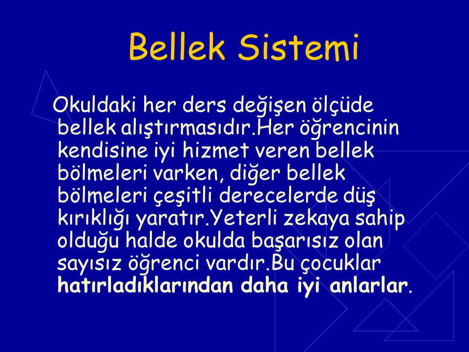 Bellek Sistemi
