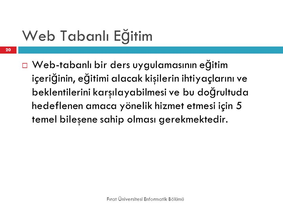 Web Tabanlı Eğitim