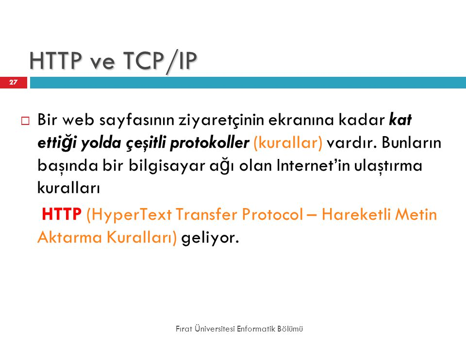 HTTP ve TCP/IP