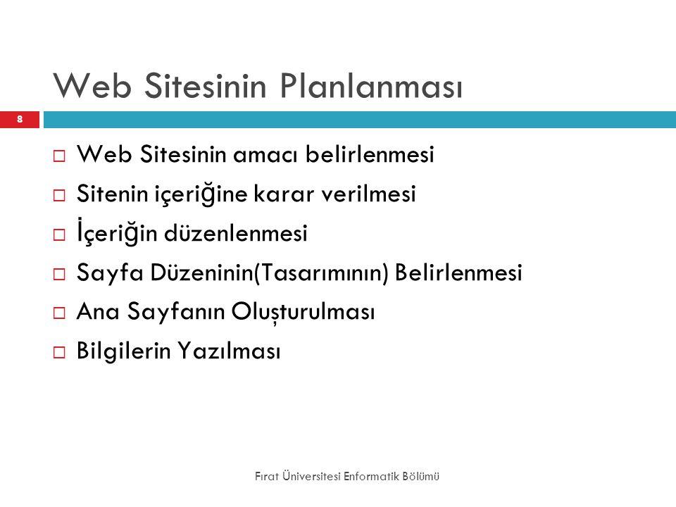 Web Sitesinin Planlanması