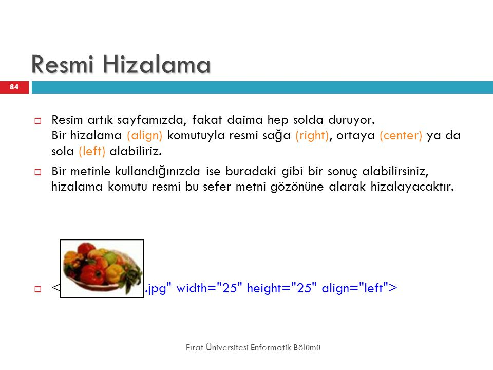 Resmi Hizalama