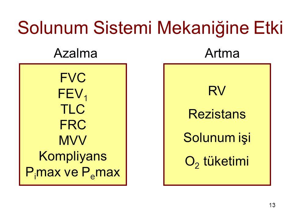 Solunum Sistemi Mekaniğine Etki