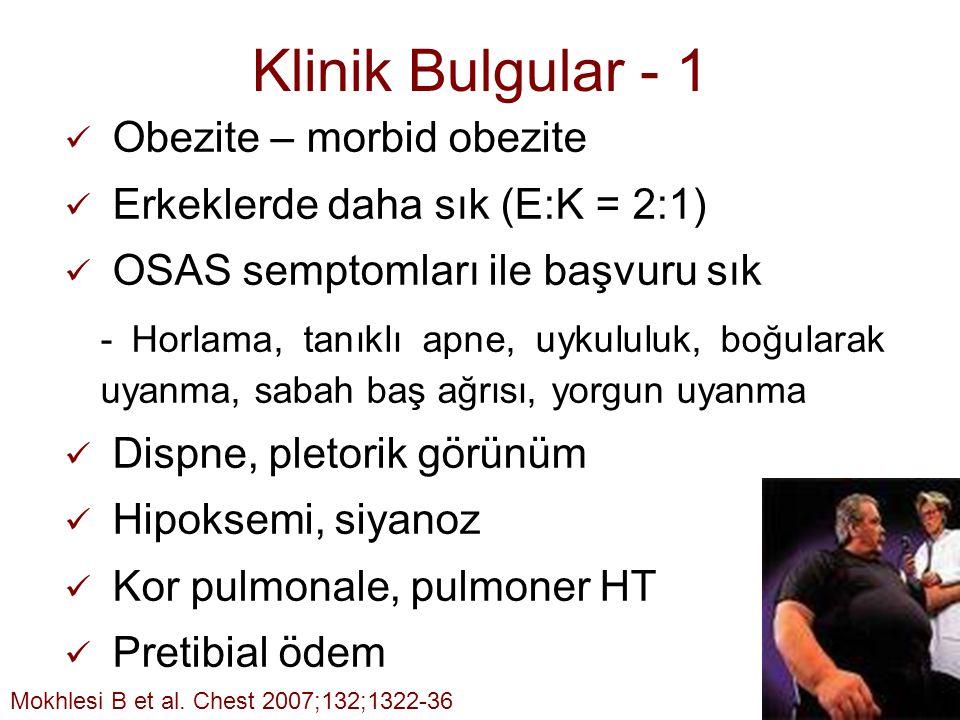 Klinik Bulgular - 1 Obezite – morbid obezite