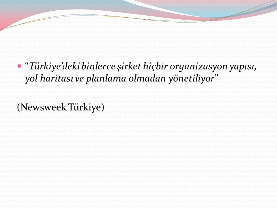 Türkiye'deki binlerce şirket hiçbir organizasyon yapısı, yol haritası ve planlama olmadan yönetiliyor