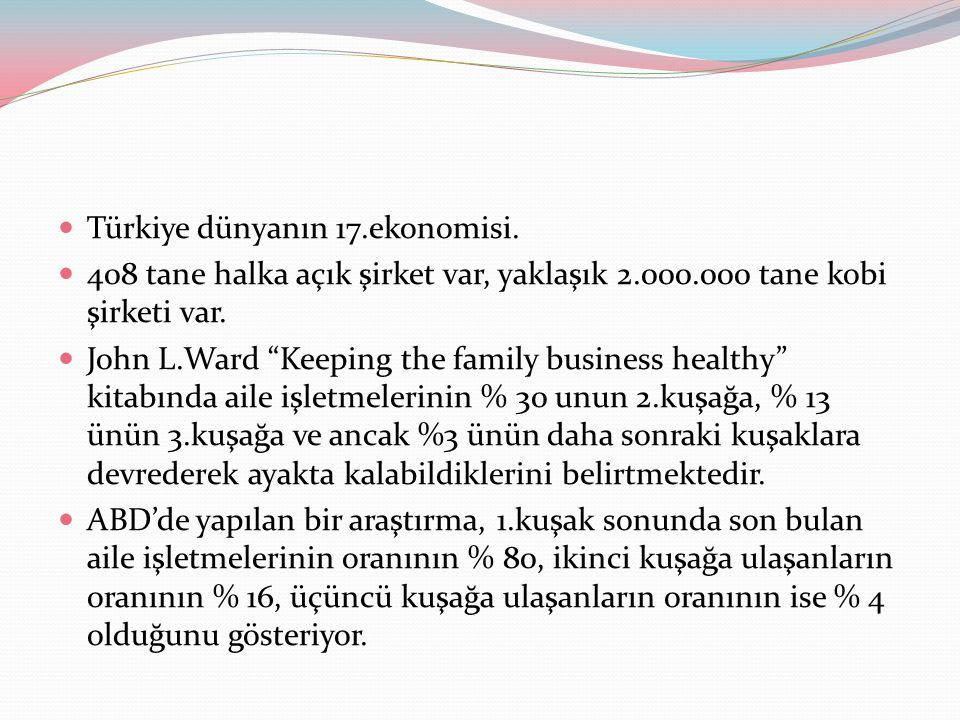 Türkiye dünyanın 17.ekonomisi.