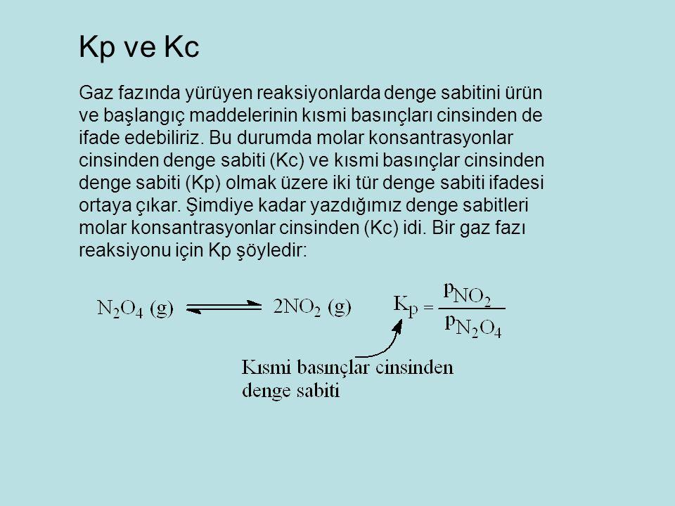 Kp ve Kc