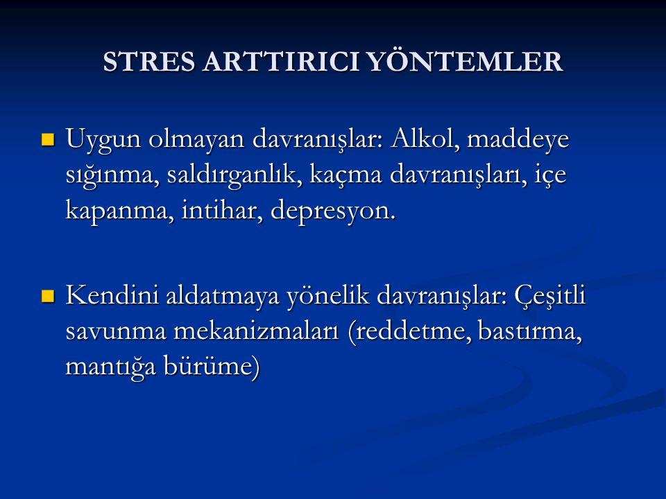 STRES ARTTIRICI YÖNTEMLER