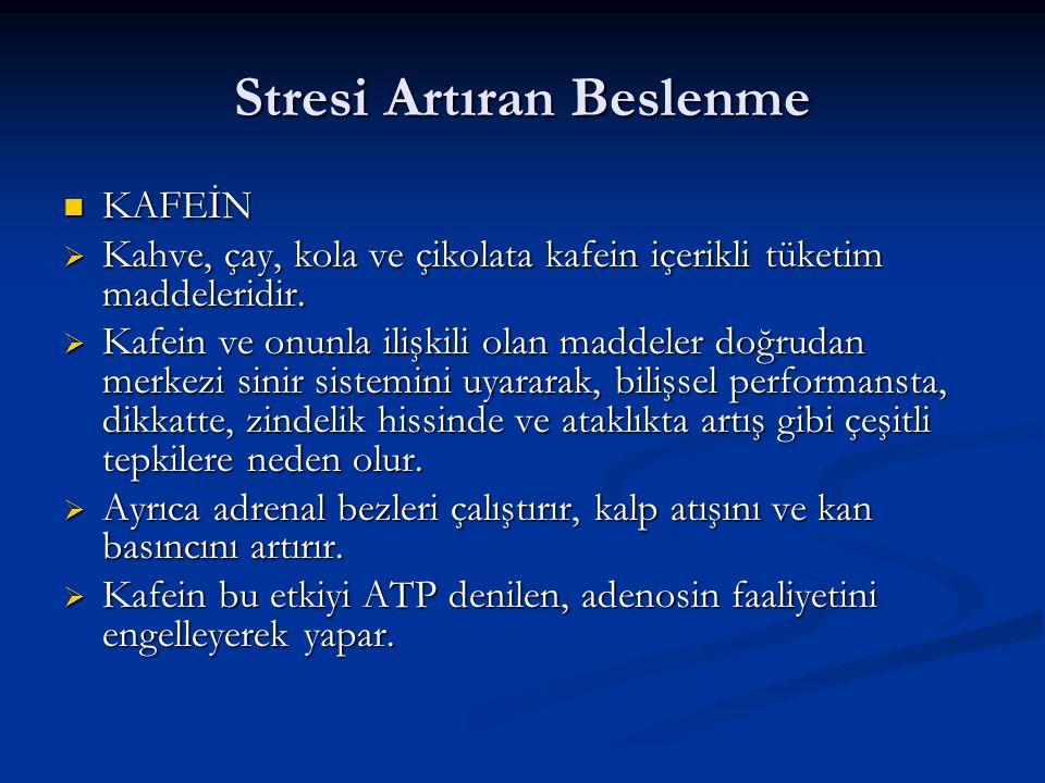 Stresi Artıran Beslenme