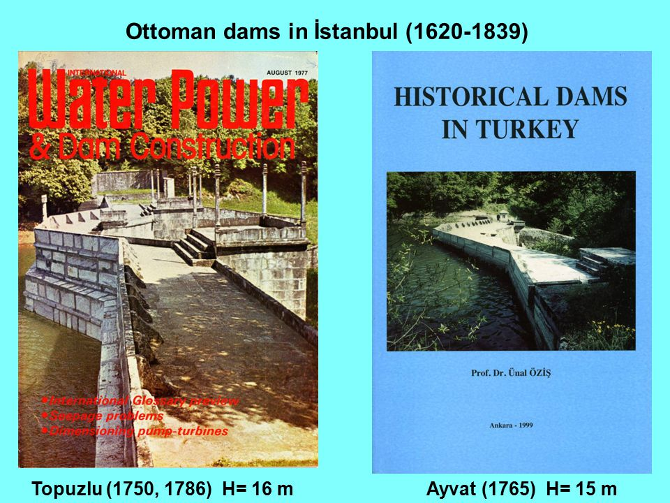 Ottoman dams in İstanbul (1620-1839)