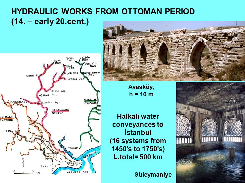 HYDRAULIC WORKS FROM OTTOMAN PERIOD (14. – early 20.cent.)