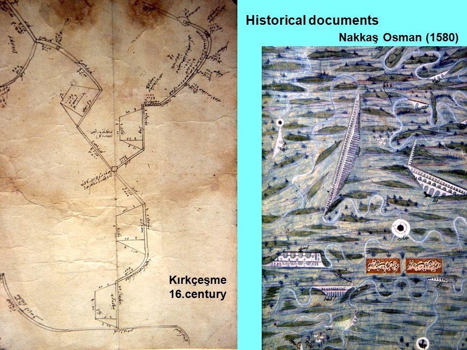 Historical documents Nakkaş Osman (1580) Kırkçeşme 16.century