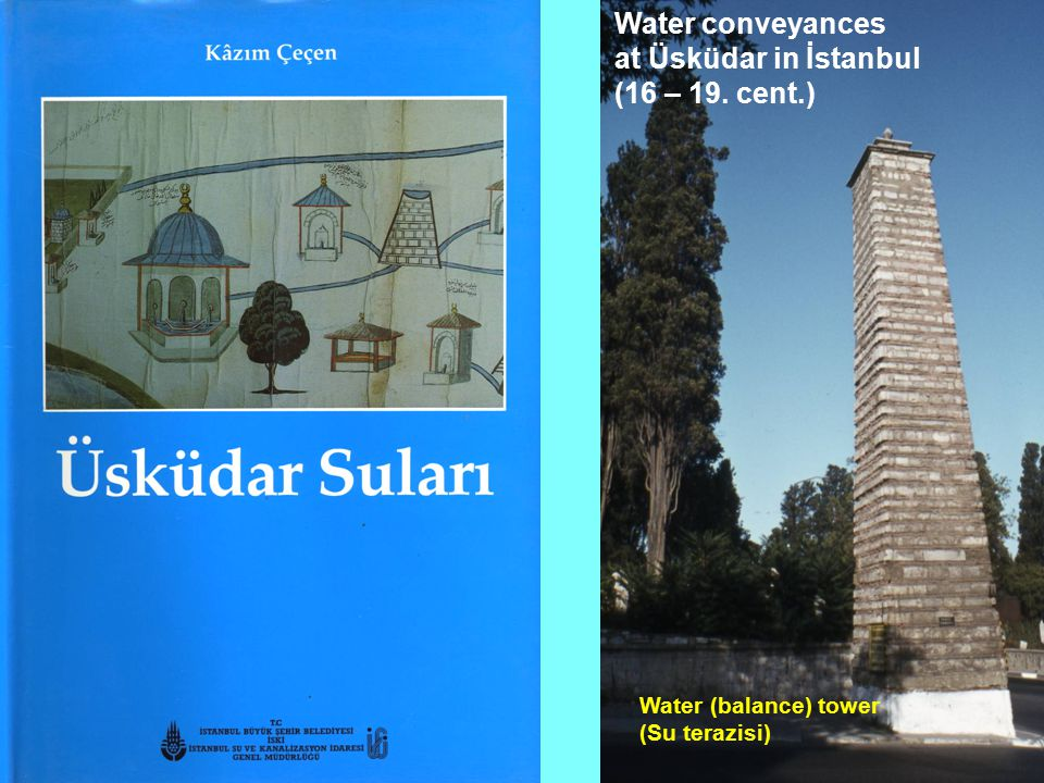 Water conveyances at Üsküdar in İstanbul (16 – 19. cent.)