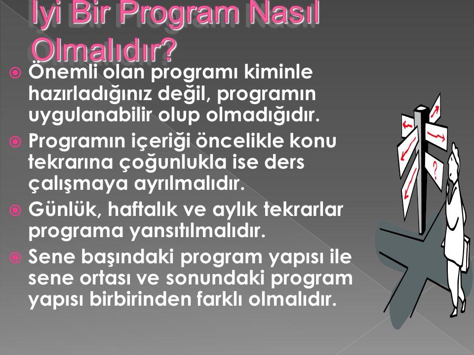 İyi Bir Program Nasıl Olmalıdır