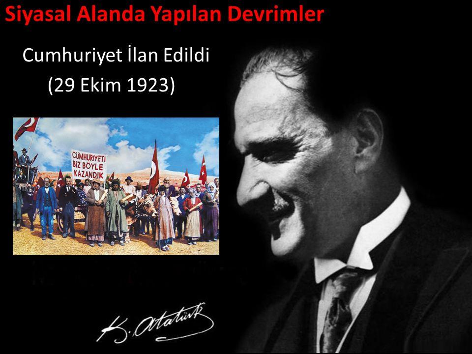 Siyasal Alanda Yapılan Devrimler