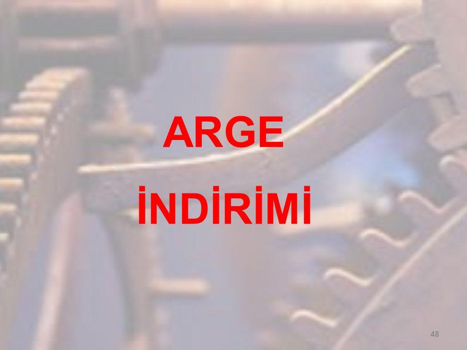 ARGE İNDİRİMİ