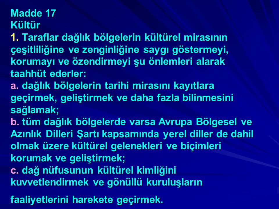 Madde 17 Kültür 1.