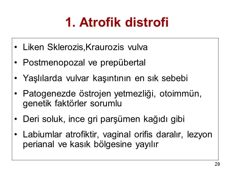 1. Atrofik distrofi Liken Sklerozis,Kraurozis vulva