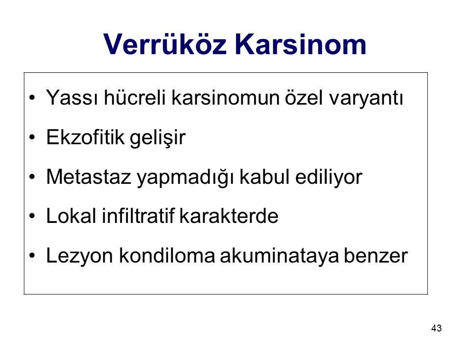 Verrüköz Karsinom Yassı hücreli karsinomun özel varyantı