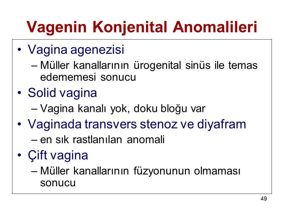 Vagenin Konjenital Anomalileri