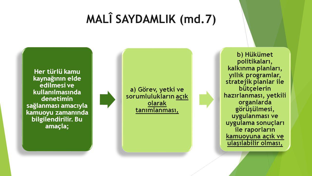 a) Görev, yetki ve sorumlulukların açık olarak tanımlanması,