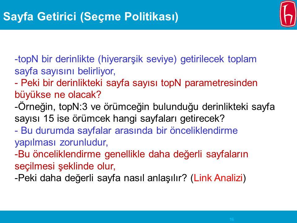 Sayfa Getirici (Seçme Politikası)