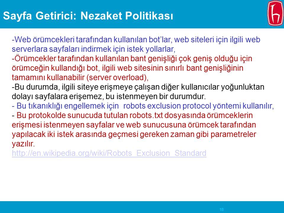 Sayfa Getirici: Nezaket Politikası