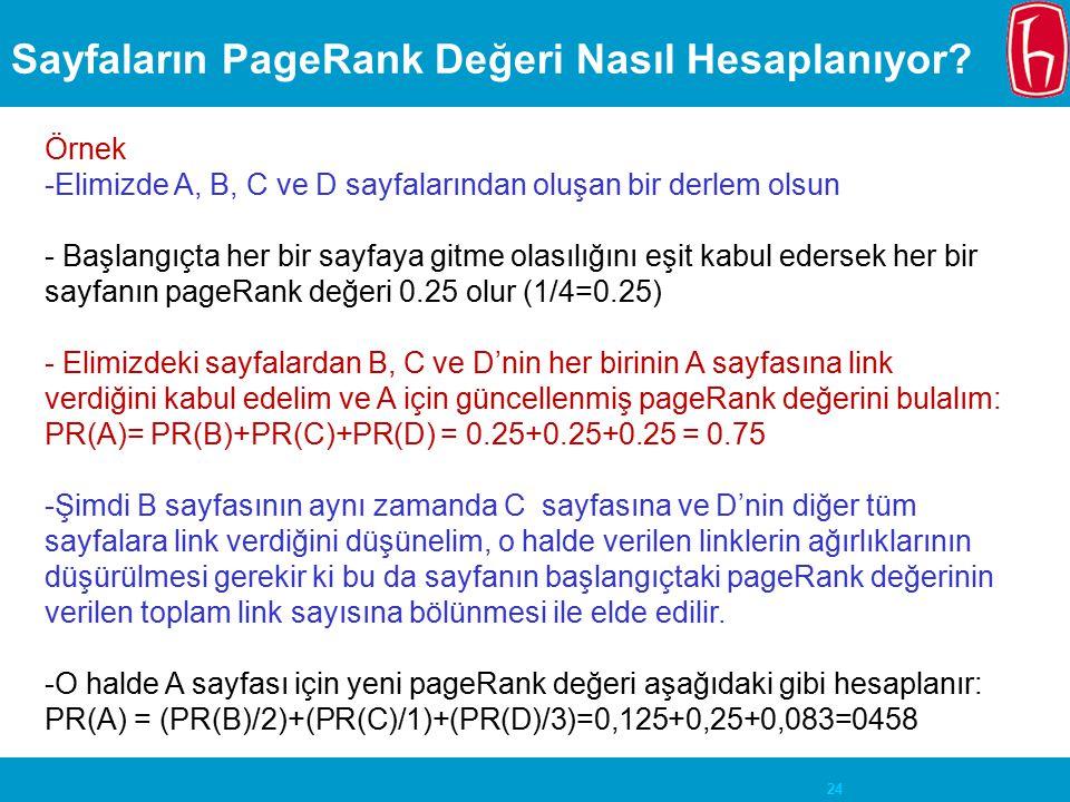 Sayfaların PageRank Değeri Nasıl Hesaplanıyor