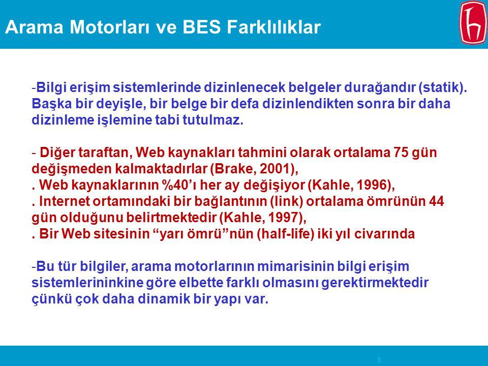 Arama Motorları ve BES Farklılıklar