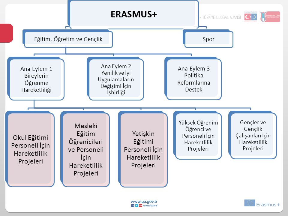 ERASMUS+ Eğitim, Öğretim ve Gençlik. Ana Eylem 1 Bireylerin Öğrenme Hareketliliği. Yüksek Öğrenim Öğrenci ve Personeli İçin Hareketlilik Projeleri.