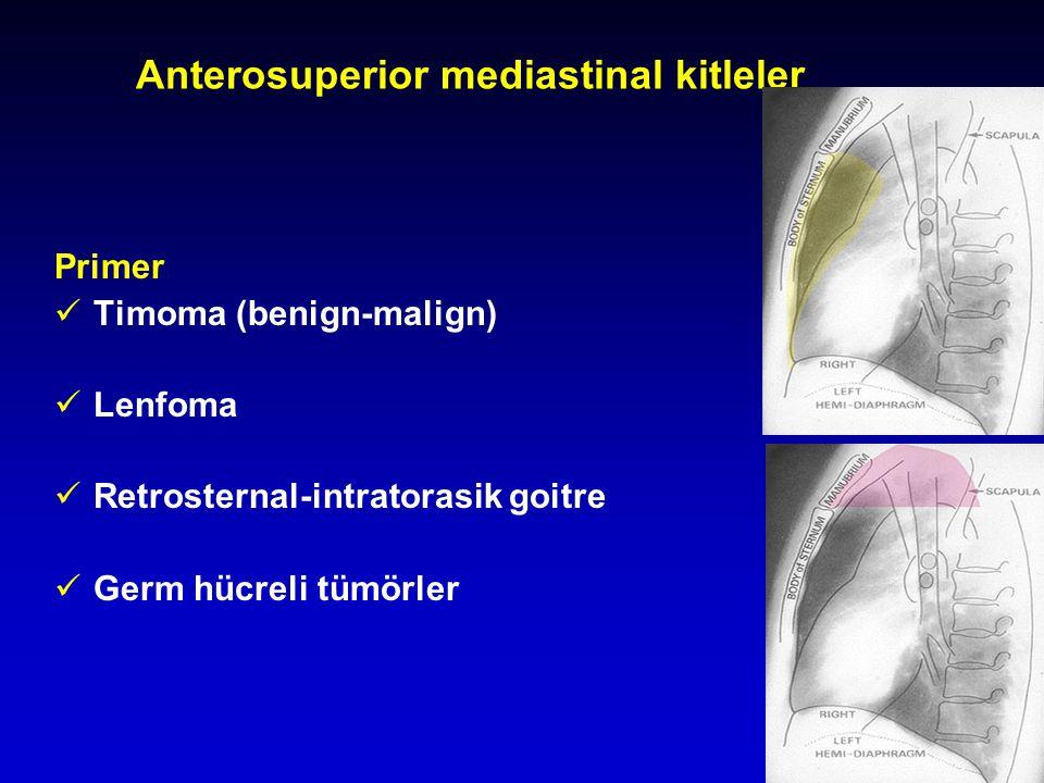 Anterosuperior mediastinal kitleler