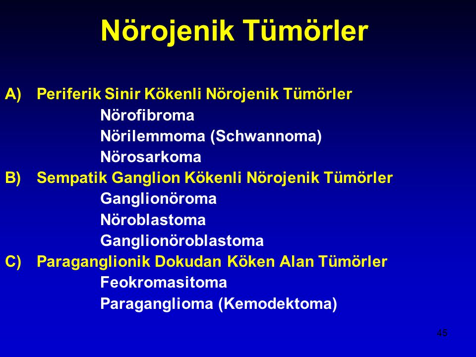 Nörojenik Tümörler Periferik Sinir Kökenli Nörojenik Tümörler