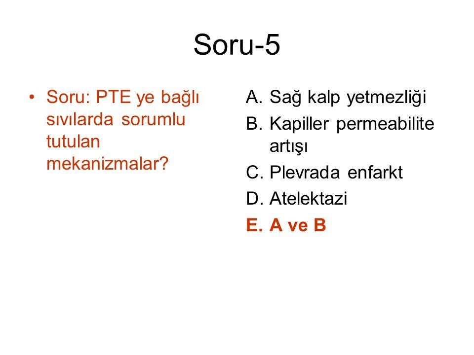 Soru-5 Soru: PTE ye bağlı sıvılarda sorumlu tutulan mekanizmalar