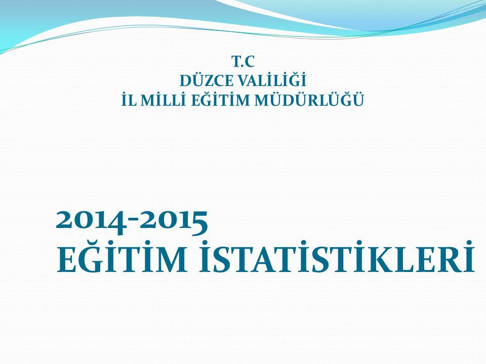 2014-2015 EĞİTİM İSTATİSTİKLERİ